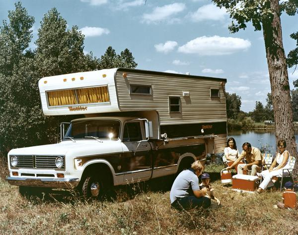 1972 Camping with International 1310 Camper