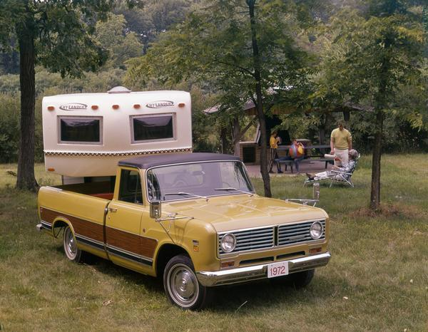 1972 Family Camping with International Pickup and Camper