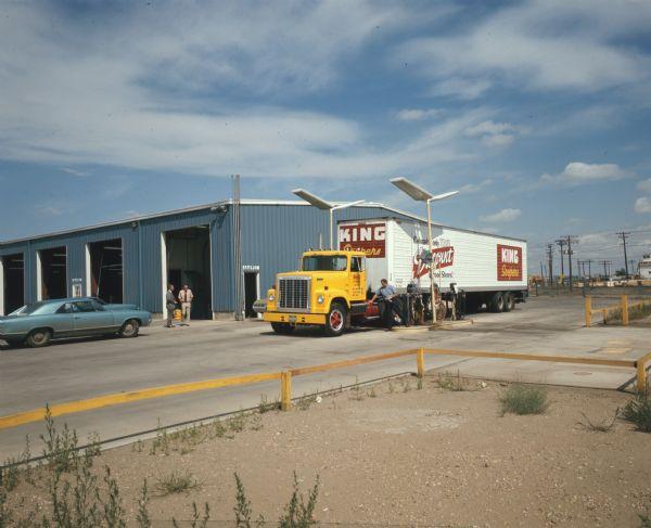 1972 International 4200 Truck at Truck Stop