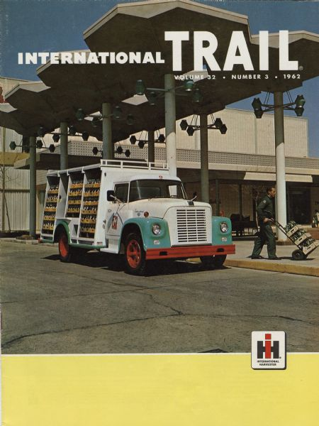1972 International Trail magazine featuring a color photograph of a 1600 Loadstar Seven-Up delivery truck