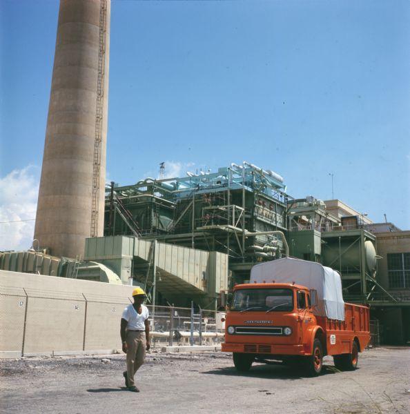 1972 International Truck at Power Plant