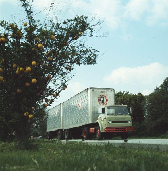 1972 International Truck on Highway a