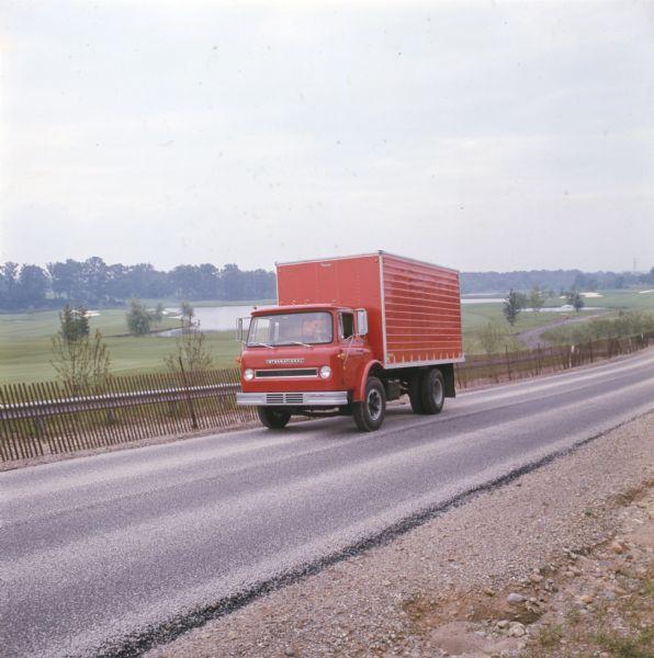 1972 International Truck on Highway