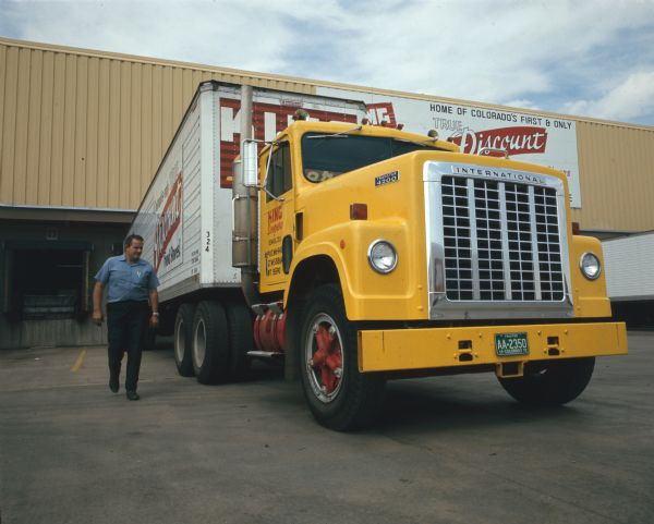 1972 Man with International Transtar 4200