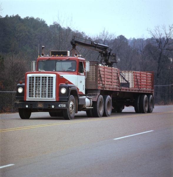1973 International Transtar 4300 Truck on Highway