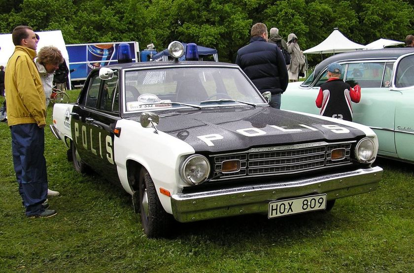 1974 Plymouth Valiant Swedish police car
