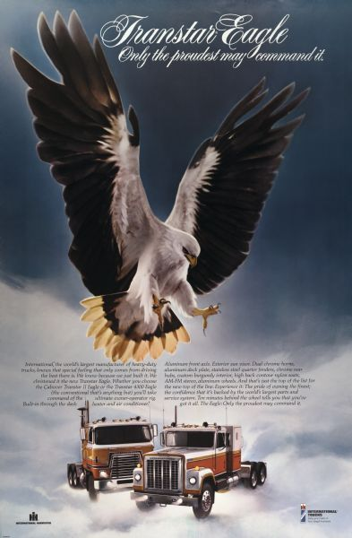 1975 International Transtar Eagle Truck Advertising Poster