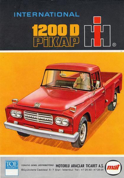 1975 Turkish International 1200D pickup advertisement