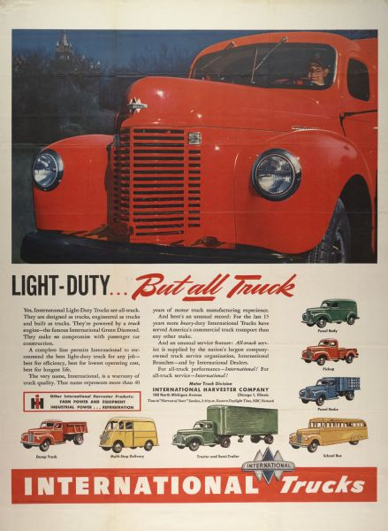 1976 International Light-Duty Truck Advertising Poster