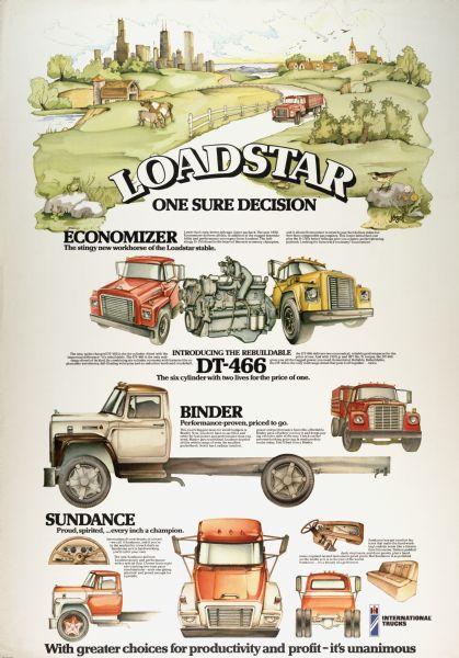 1976 International Loadstar Truck Advertising Poster