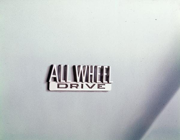 1976 International Scout All Wheel Drive Emblem