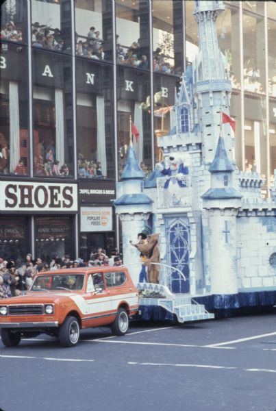 1976 International Scout Truck Towing Disney Castle Themed Float