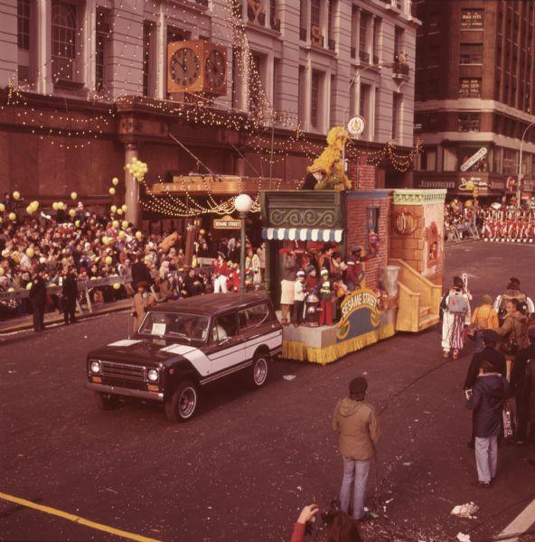 1976 International Scout Truck Towing Sesame Street Parade Float