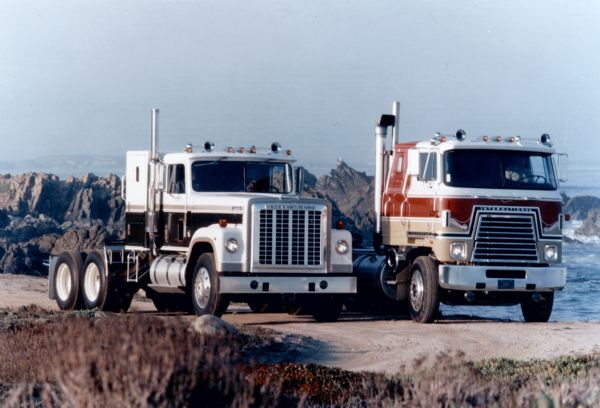 1976 International Transtar Eagle Standard and Cabover Trucks Outdoors