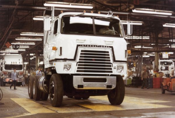 1976 International Transtar Eagle Truck Driving Off the Assembly Line