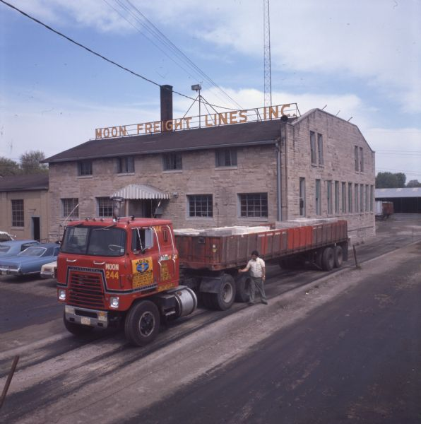 1976 International Truck with Trailer Containing Blocks of Stone