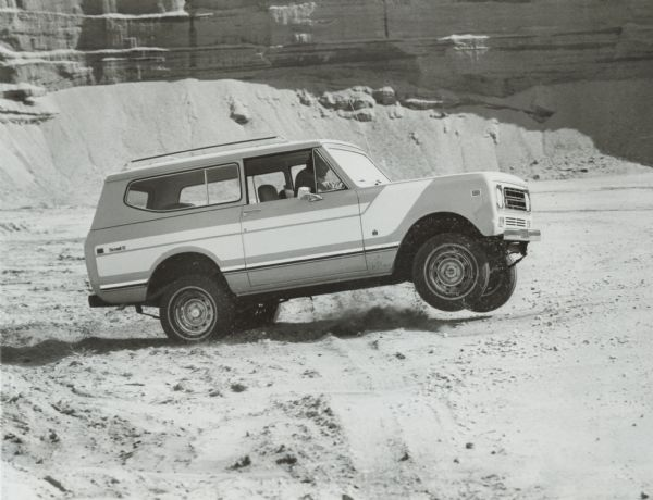 1977 International Scout II Driving in the Desert
