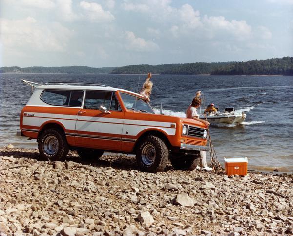 1977 International Scout II Truck on Fishing Trip