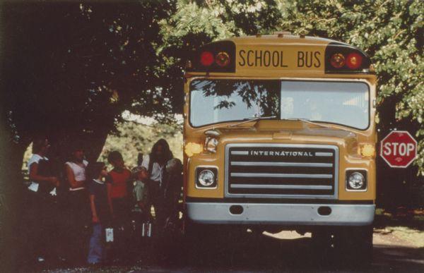 1978 Children Boarding S-Series IH School Bus