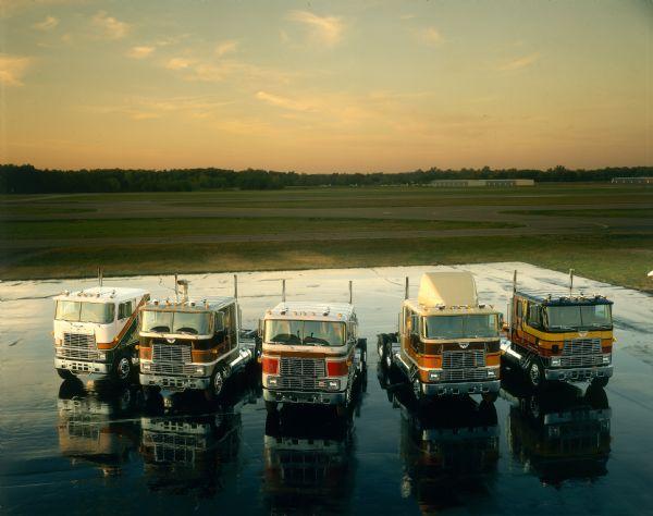 1981 Five International Transtar Eagle Trucks