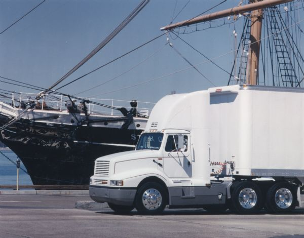 1987 International 8300 Truck with Sailing Ship