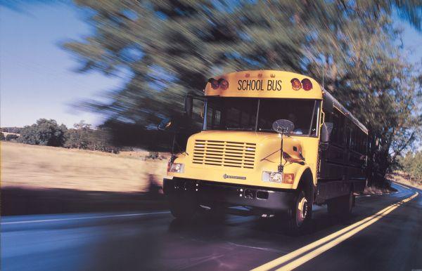 1990 IH School Bus In Motion