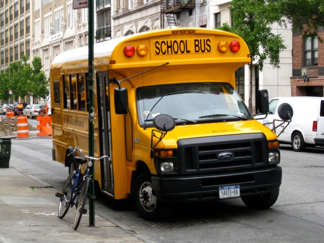 2008 Type A school bus (Trans Tech Model DW6158) with a 2008 Ford E-450 chassis