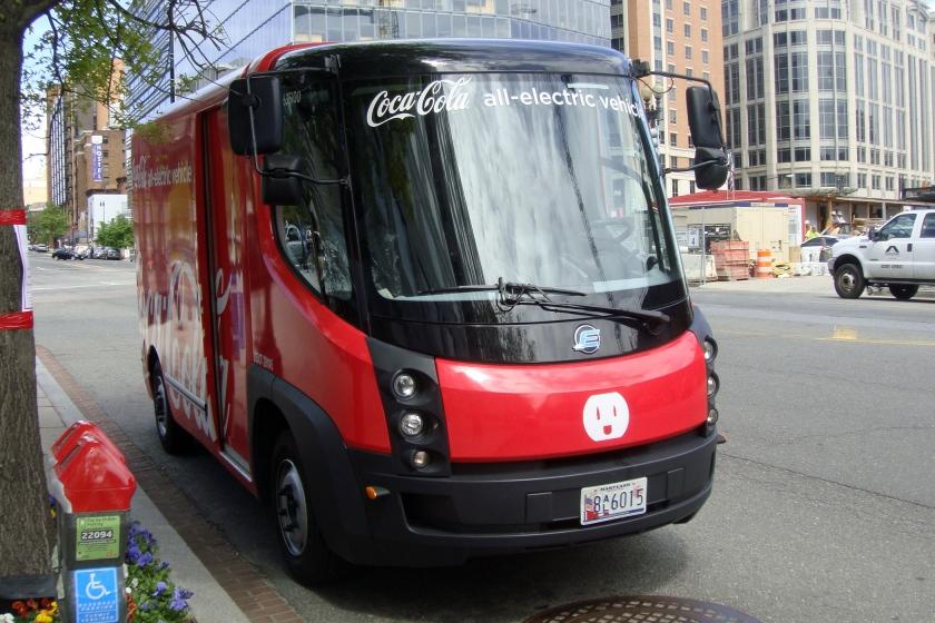 Coca Cola eStar electric truck at Washington D.C.