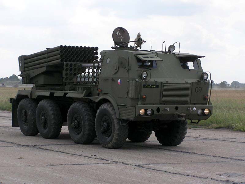 Armored czech Tatra T813 truck as rocket launcher RM-70