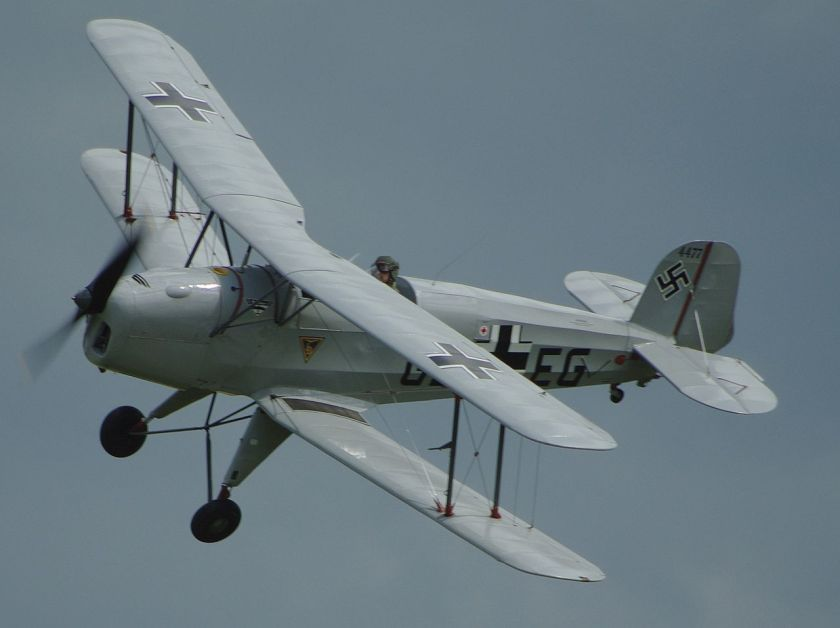 Bü 131 Jungmann-Jungmann at Old Warden