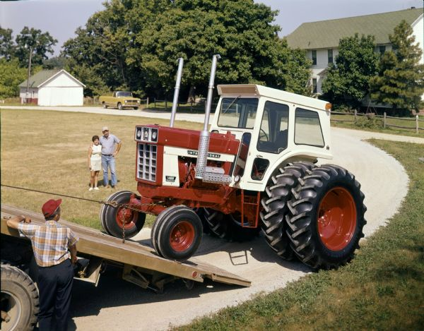 Delivery of New International 1468 Tractor