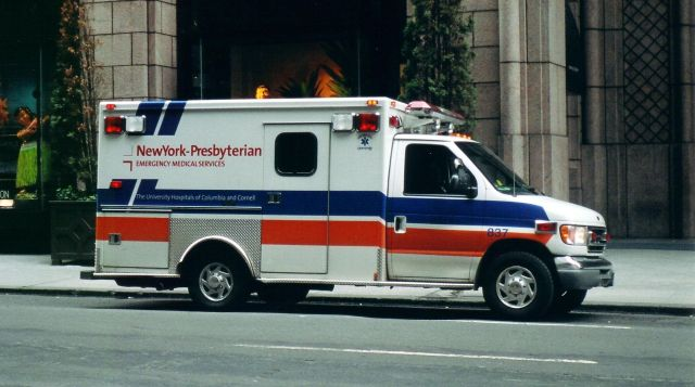 Ford cutaway van chassis with a modular body Ambulance NY City