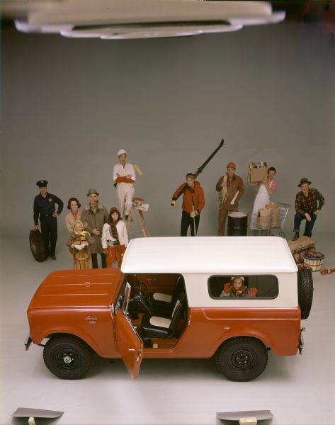 Group of People with International Scout