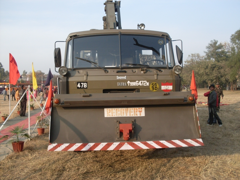 Indian Army TATRA heavy duty recovery truck