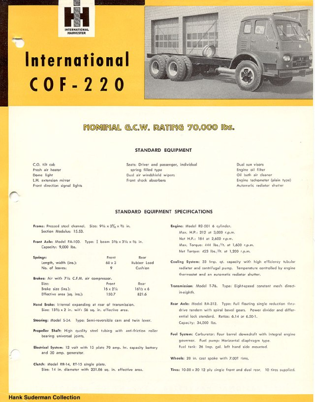 International cof 220a