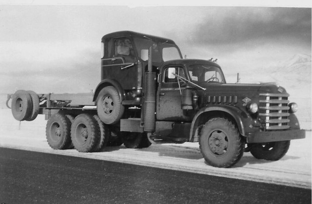 International Harvester cab Diamond T conv with a coe on the deck