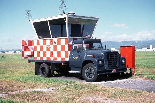 International Harvester Loadstar Mobile air traffic control tower