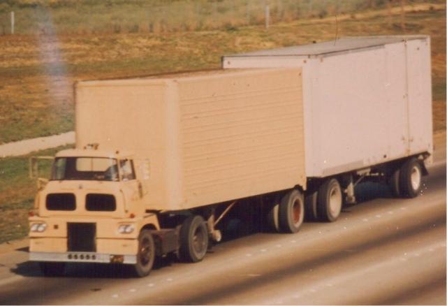 International Harvester Sightliner on the road