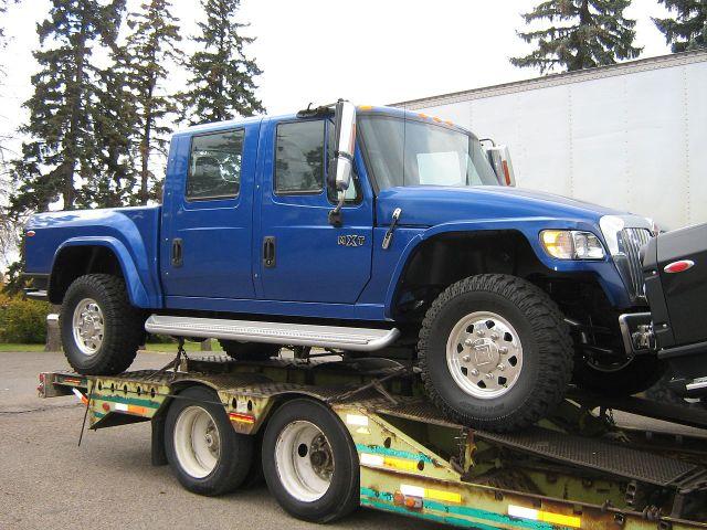 International MXT on dealer delivery trailer