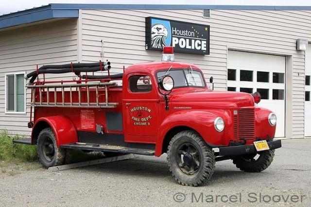 International Old Engine 9 Houston Fire dept Alaska
