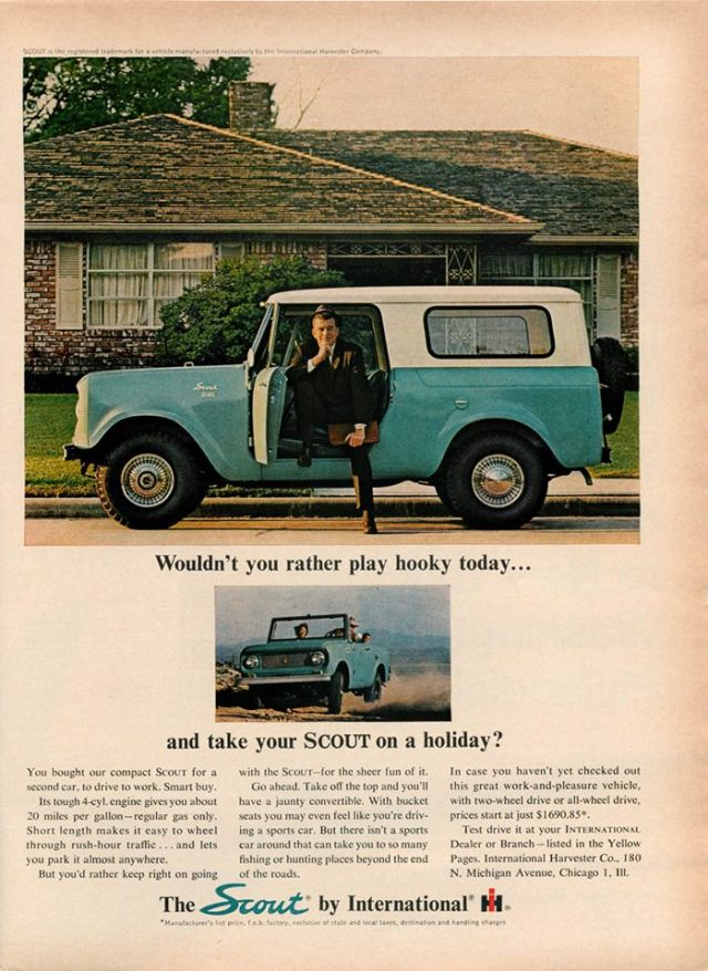 International Scout Ad
