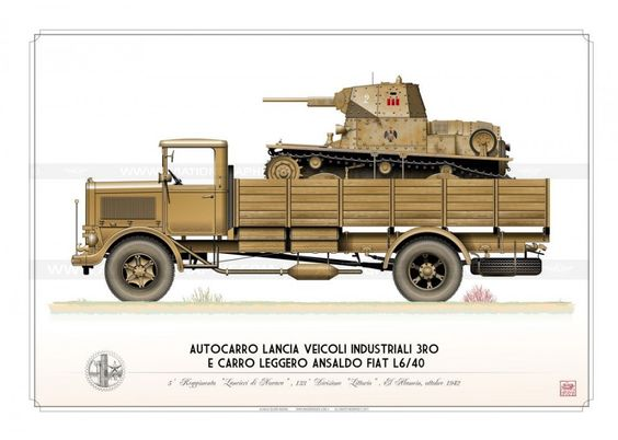 Lancia 3RO e L6-40 Regio Esercito OM-08