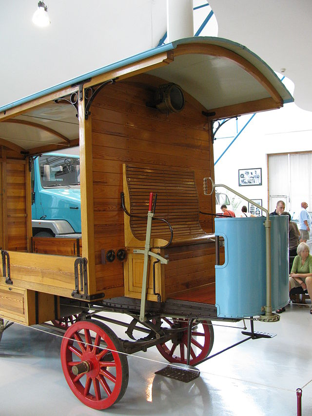 NW 1st lorry1 Replica of the first lorry of Nesselsdorfer Wagenbau, in Tatra Technical museum.