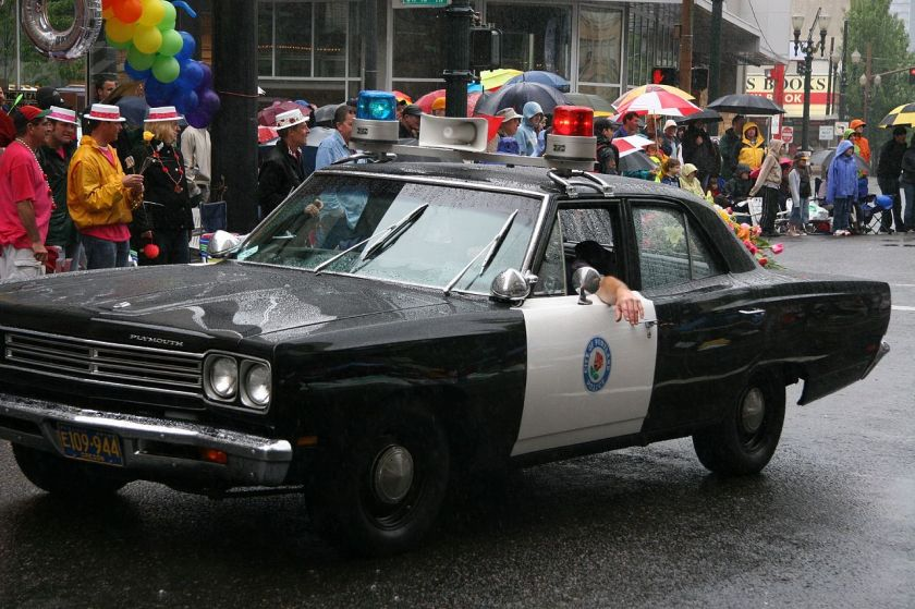 Plymouth Portland police car