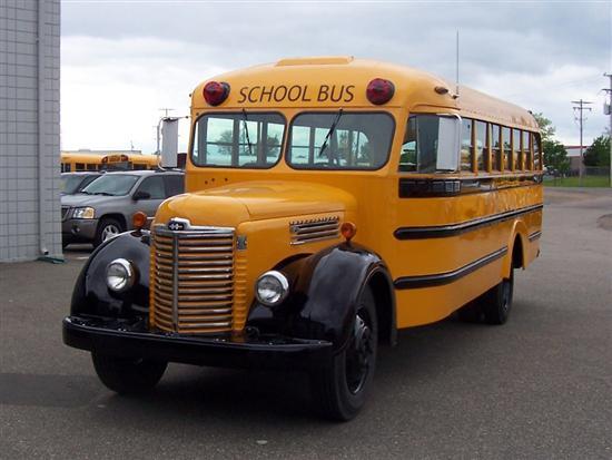 Restored International School Bus