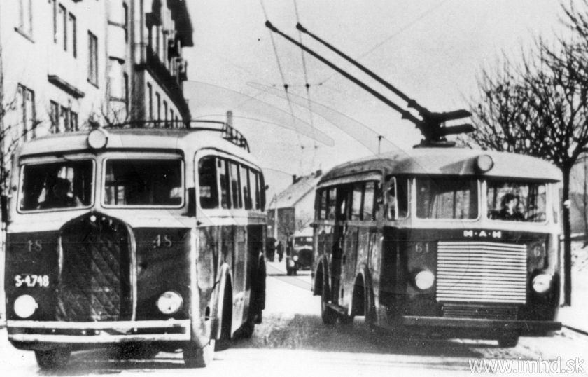Tatra 27-91 + MAN Trolleybus in Bratislava