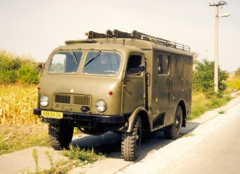Tatra 805 - Military fire-fighting truck, 75HP, 80kmh