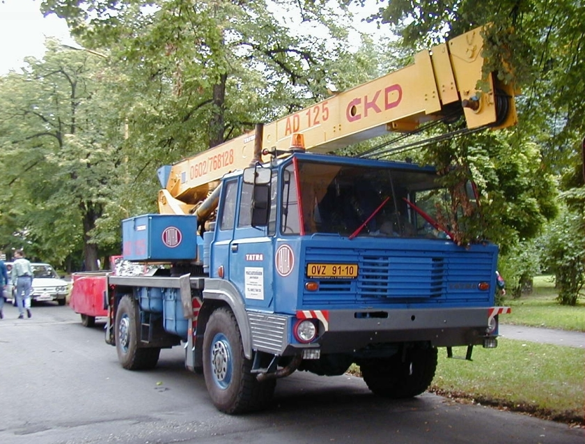 Tatra 813 4x4 crane