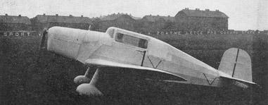 Tatra T-002 - [Project] 4-seat light transport a-c, span 17.90 m