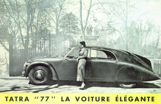 Tatra T 77, the elegant car Contemporary advertisement